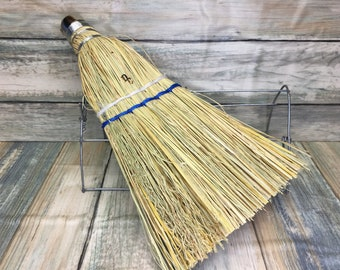 USA Made Handmade STRAW CORN Broomcorn Reed Whisk Car Sofa Garage Broom Corner Hand Brush Cleaning Kitchen Eco Friendly Dixie Cowboy Bb6