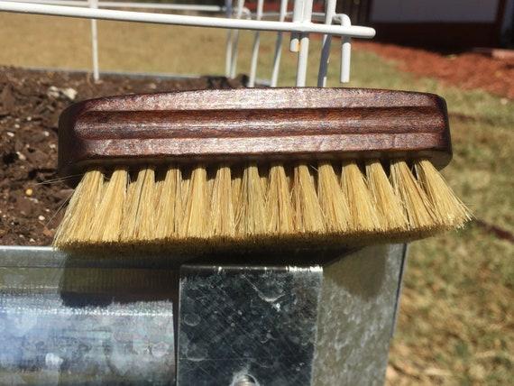 "Rustic BOAR Hair Reclaimed Wood Beard Bristle Brush Perfect for BEARDS & Short Hair 4.5"" Medium Palm Military USA Made Dixie Cowboy Tx71"