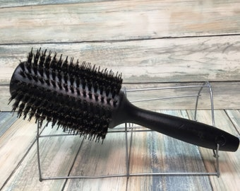 """USA Made Natural BOAR Hair Wood Round ROLLER Brush 10"""" Blow Drying Shine Straightening Volume Smoothing Detangling Wet Dry Dixie Cowboy q34"""
