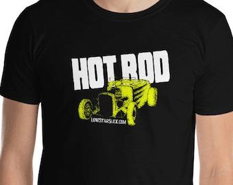 HOT ROD Rockabilly Greaser Dixie Cowboy Lone Star Slick Short-Sleeve Unisex T-Shirt Men's Women's Tee