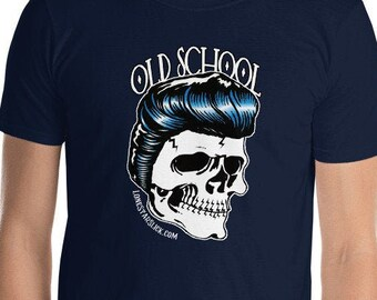 OLD SCHOOL Greaser Rockabilly Dixie Cowboy Lone Star Slick TEE Short-Sleeve Unisex T-Shirt Men's Women's