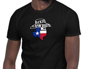 Dixie Cowboy BANDIT LOGO Tee Men's Women's Short-Sleeve Unisex T-Shirt