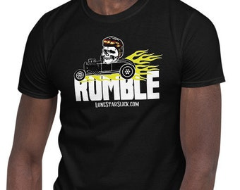 RUMBLE Greaser Rockabilly Dixie Cowboy Lone Star Slick TEE Short-Sleeve Unisex T-Shirt