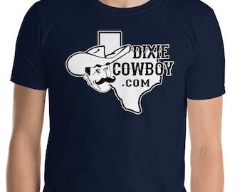 DIXIE COWBOY Texas Howdy Logo Short-Sleeve Unisex T-Shirt Men's Women's Tee ALL Sizes