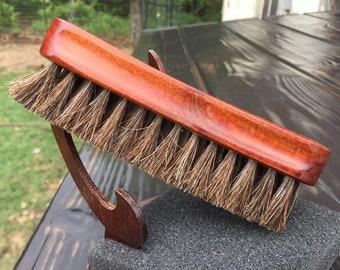 "Rustic Reclaimed Wood 100% HORSE Hair Soft Bristle Mini 6"" Wood Paddle Military Brush Perfect for Baby Beard & Fine Hair horsehair j19"
