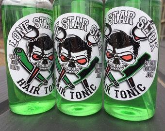 ON SALE Barber Shop Blend Hair Tonic by Lone Star Slick Dixie Cowboy 100ml 3oz Bottle Serum Splash Elixir Men's Friction Lotion Beard