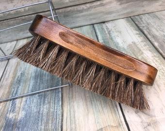 "USA Made Natural BOAR Hair Wood Beard Bristle Super Soft Brush BEARDS & Body Brush Short Hair 5"" Palm Military Dixie Cowboy J81"