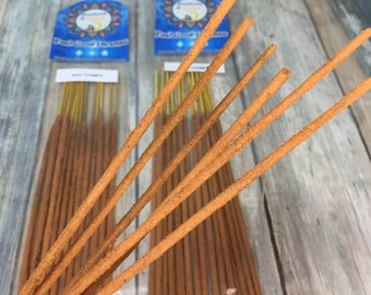 USA Made Nag Champa Handmade INCENSE STICKS 15 pack Hand Rolled and Scented by Moonbeams & Starlight Dixie Cowboy