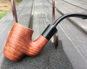 Handmade Mahogany Wood PIPE Tobacco Smoking Pipe Men's & Women's Carved Wood Handcrafted USA Made Dixie Cowboy SM2