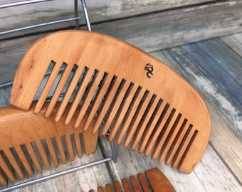 """Promo Comb Special - USA Made Reclaimed Raw Wood Perfect Pocket Beard or Mustache Comb 4"""" 5"""" Finish Styling Dressing Hair Dixie Cowboy Q34"""