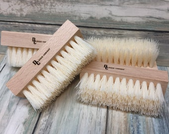 "USA Made Utility Brush WOOD Scrub Cleaning Brush 4"" Firm Palm Military Hand Nail Feet foot Vegetable Fingernail Dixie Cowboy Q08"