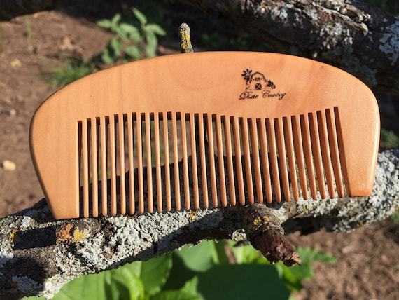 "Handmade TEXAS Reclaimed PEACH WOOD 5"" Styling Dress Pocket Purse Perfect Beard Mustache Hair Comb Men's Women's Dixie Cowboy e07"