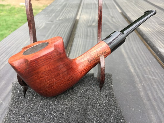 Handmade Mahogany Wood PIPE Tobacco Smoking Pipe Men's & Women's Carved Wood Handcrafted USA Made Dixie Cowboy B11