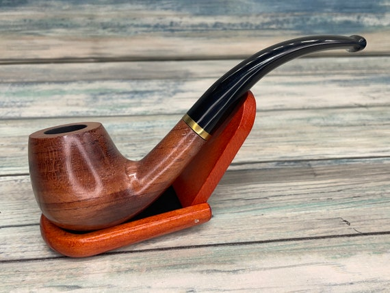 USA Made ROSEWOOD Rose Wood PIPE Set Tobacco Smoking Pipe Men's & Women's Carved Wood Handcrafted Dixie Cowboy P11