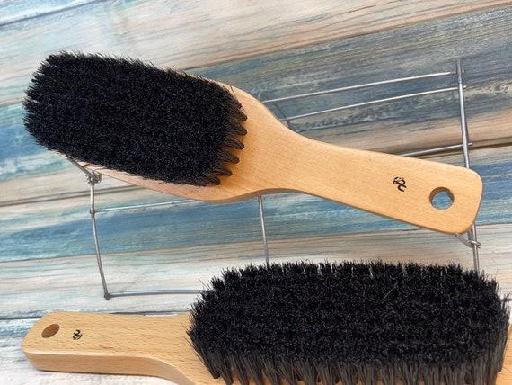 "USA MADE BOAR Hair Brush 9.5"" Beechwood Hair Bristle Super Soft  Stiffness Styling Brush Hair Beard Wood Handle Dixie Cowboy"