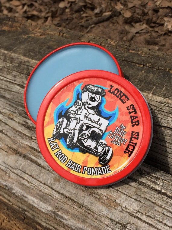 Limited Edition RAT ROD Strong Hold Matte Finish Rockabilly Hair Natural & Organic POMADE Oil Based Lone Star Slick Dixie Cowboy 4oz