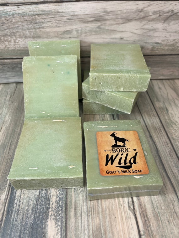 GOAT'S Milk Eucalyptus and OLIVE OIL Born Wild Soap Co. Bar Herbal Essential Oils All Natural Organic Ingredients 4.5 oz Dixie Cowboy