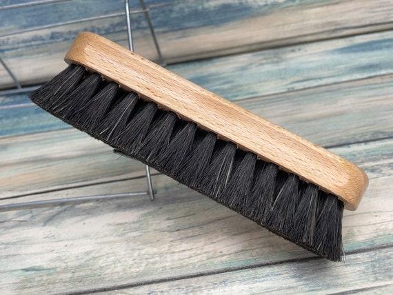 "USA Made BOAR Hair Beech Wood Body Dry Brushing Beard Bristle Brush BEARDS & Short Hair 5.5"" Medium Soft Palm Military Dixie Cowboy"