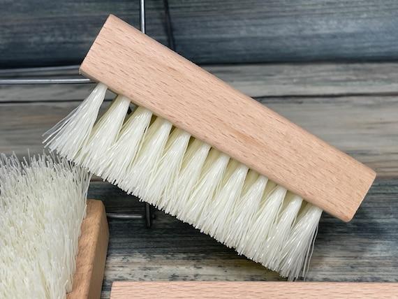 """USA Made VEGAN Friendly Plant Based Tampico Fiber 2 Sided Brush BEECHWOOD 4"""" Scrub Gardener's Hand Nail Vegetable Fingernail Dixie Cowboy"""