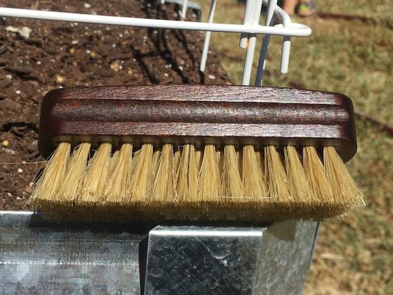 "Rustic BOAR Hair Reclaimed Wood Beard Bristle Brush Perfect for BEARDS & Short Hair 4.5"" Medium Palm Military USA Made Dixie Cowboy Tx42s"