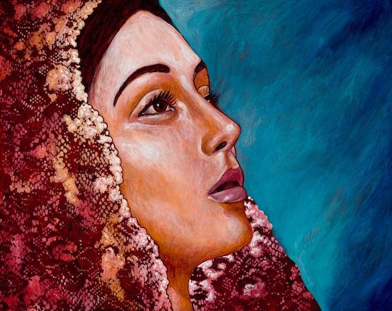 Soledad -  Framed Giclee on Canvas