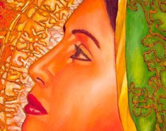 Lupita Serena (Detail) - Framed Giclee on Canvas