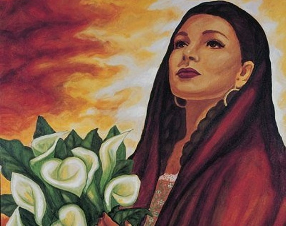 Mujer  Bonita - Framed Giclee on Canvas