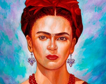 Frida Hermosa- Framed Giclee on Canvas