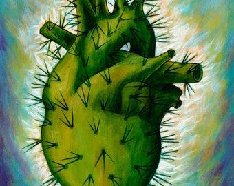 Corazon Azteca - Framed Giclee on Canvas