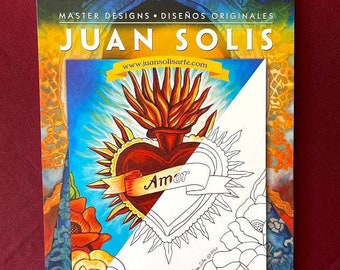 "Coloring Set 20 Large Sheets by Juan Solis (12"" X 16 each)"