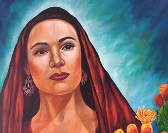 Belleza Mexicana - Framed Giclee on Canvas