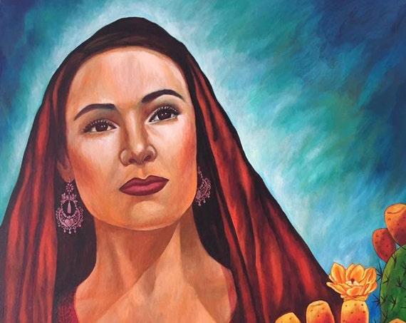 Belleza Mexicana - Framed Giclee on Canvas