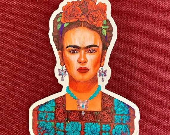 "Frida entre Mariposas Sticker (3"" X 4"")"