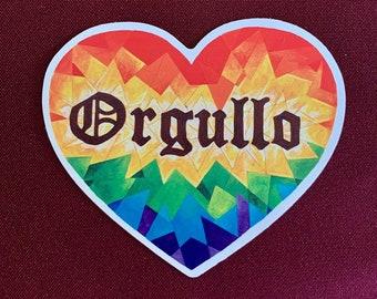 """Corazon Orgullo Stickers (3,5"""" X 4"""")"""
