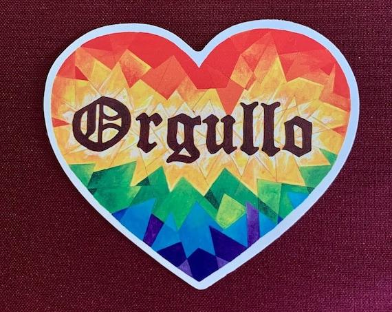 Corazon Orgullo Stickers (large and Medium sizes)