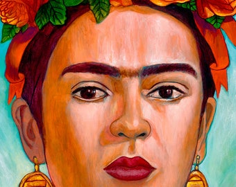 Frida entre Alcatraces (Detail) - Framed Giclee on Canvas