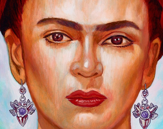 Frida Hermosa (Detail) - Framed Giclee on Canvas