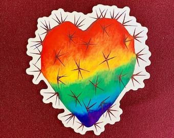 """Corazon Nopal (Orgullo) (3.5"""" X 4"""")"""