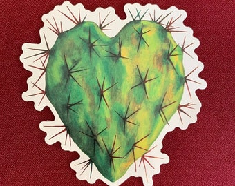 "Corazon Nopal Sticker (4"" X 4"")"