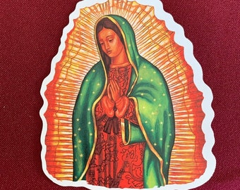 "Virgen de Guadalupe Sticker (3.5"" X 4"")"