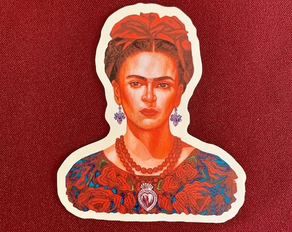"Frida Hermosa Sticker (3.5"" X 4"")"