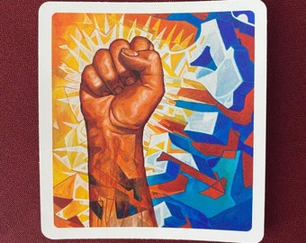 """Nuestra Lucha Sticker (3.5"""" X 4"""")"""