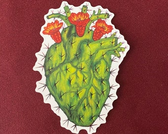"Corazon Mexicano  Sticker (Detail) (3"" X 4"")"