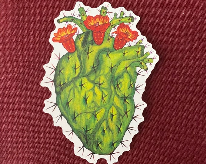 "Featured listing image: Corazon Mexicano  Sticker (Detail) (3"" X 4"")"