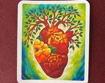 """Arbol de Amor  Sticker (3.5"""" X 4"""")"""