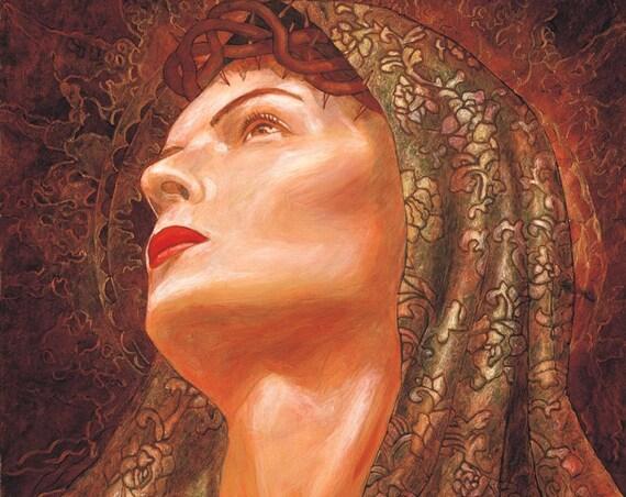 Dolorosa - Framed Giclee on Canvas
