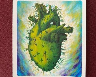 "Corazon Azteca Sticker (3.5"" X 4"")"
