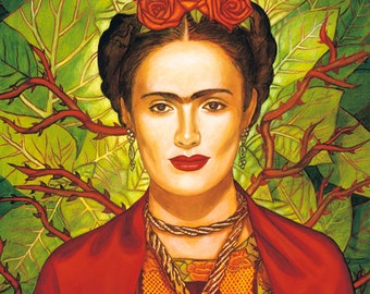 Salma / Frida - Framed Giclee on Canvas