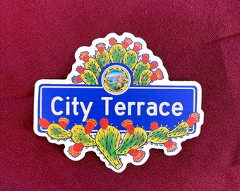 "City Terrace Sticker (4"" X  3.5"")"