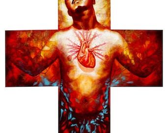 Mi Corazon - Framed Giclee on Canvas (3 panels)